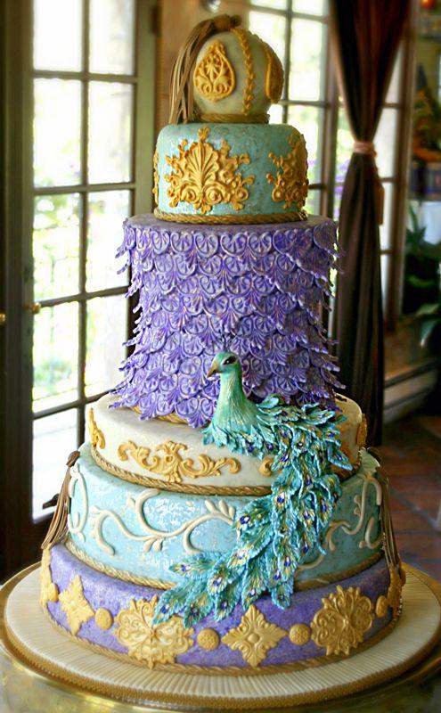 Peacock Cake, peacock wedding cake wedding cake