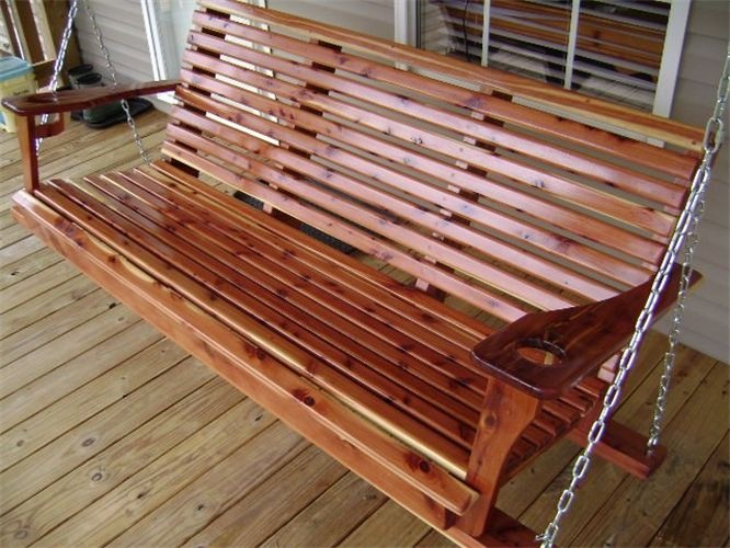 Cathedral Caverns Cedar Porch Swing New House