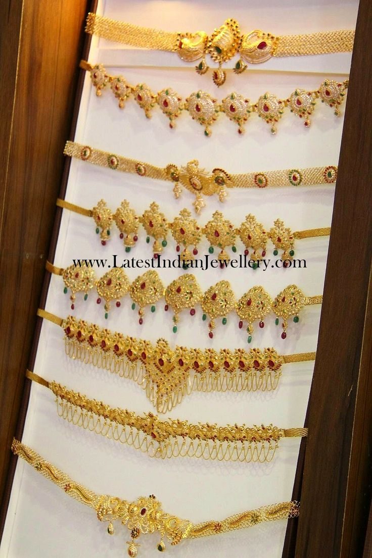 Fancy Light Weight Gold Vaddanam Designs