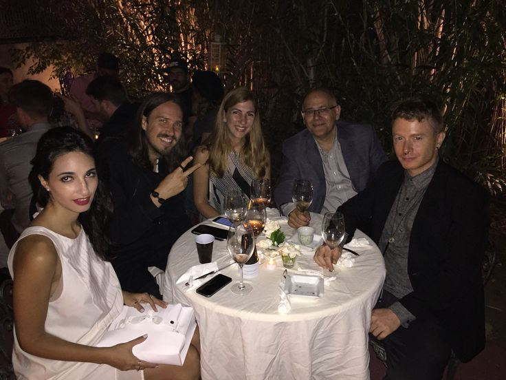 Dinner at the Blue House with Nour Najem, Stefan Siegel, Yasmine Taan, Elie Haddad, Kevin Kramp.