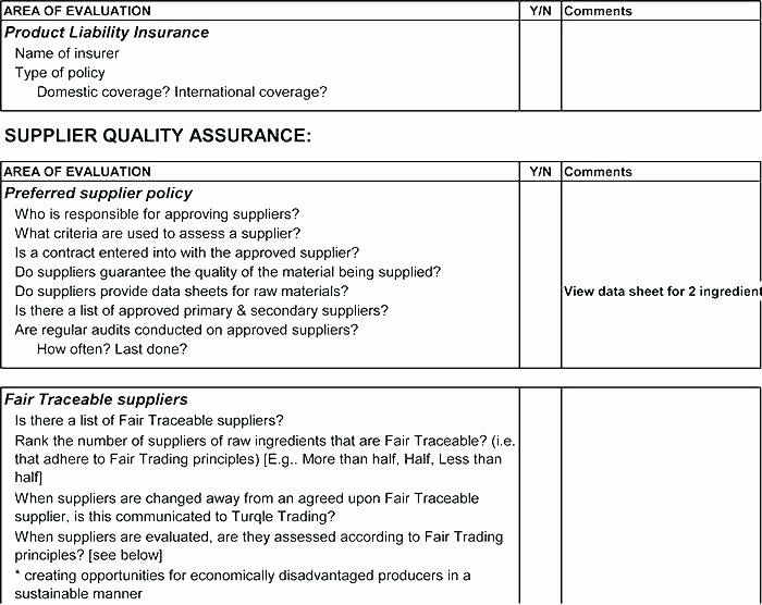 Vendor Audit Checklist Template Fresh Supplier Audit Schedule