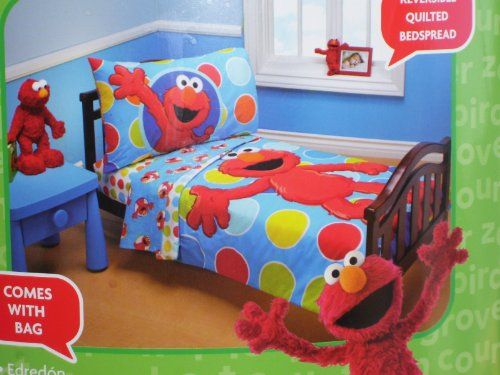 Sesame Street Elmo 4 Piece Toddler Bed Set Jamey S Room