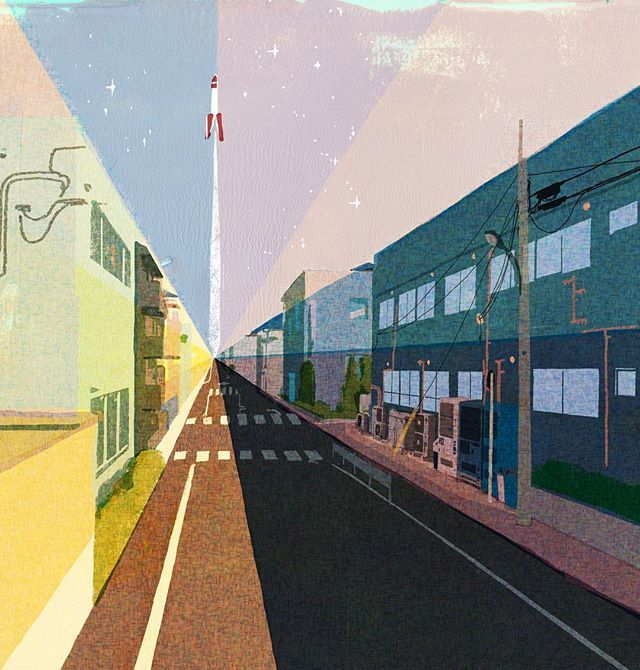 下町ロケット #illustration #painting #tatsurokiuchi #art #drawing #life #lifestyle #happy #japan #people #木内達朗 #イラスト #イラストレーション