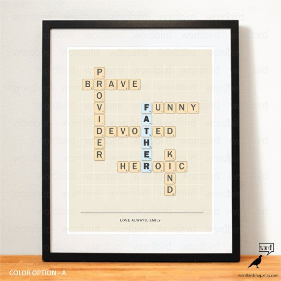 Best 25 fathers gifts ideas on pinterest fathers day gifts dad fathers day gift idea fathers day print personalize names scrabble lover literary gift dad for gift negle Gallery