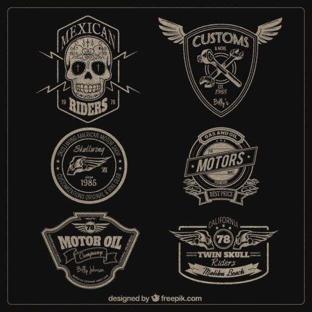 Motores emblemas Vetor grátis
