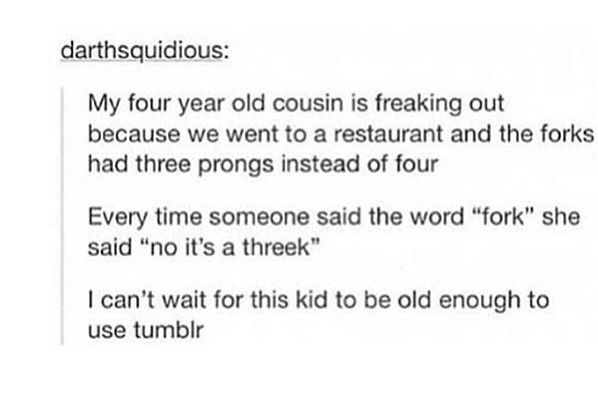this child is the descendant of mother tumblr and father youtube