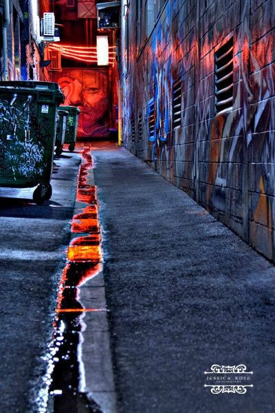 Melbourne Graffiti Art Laneway Taken in May 2012 on a rainy evening ©Jessica Rose Photography
