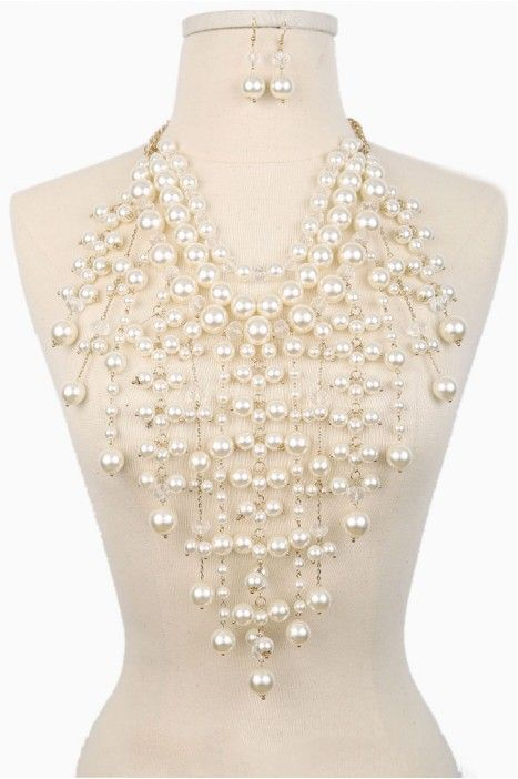 513 best jewelry wedding pearls images on pinterest necklaces pearl chandelier necklace aloadofball Gallery