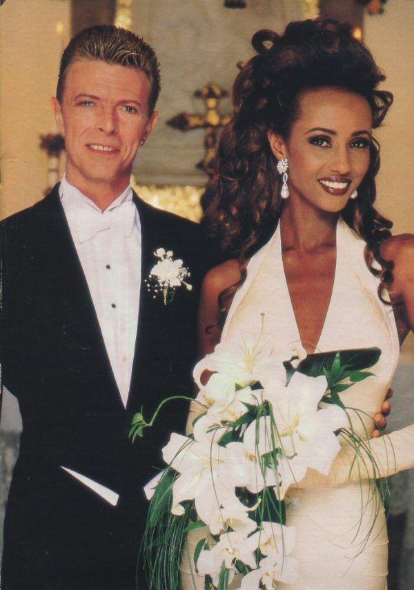 Throwback Thursday: Iman and David Bowie + Halter Neck Wedding Dresses - Munaluchi Bridal Magazine