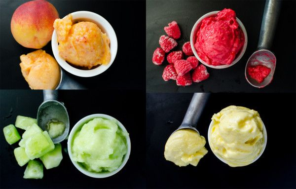 Easy Fruit Sorbet (Only 3 ingredients and so many flavors!)