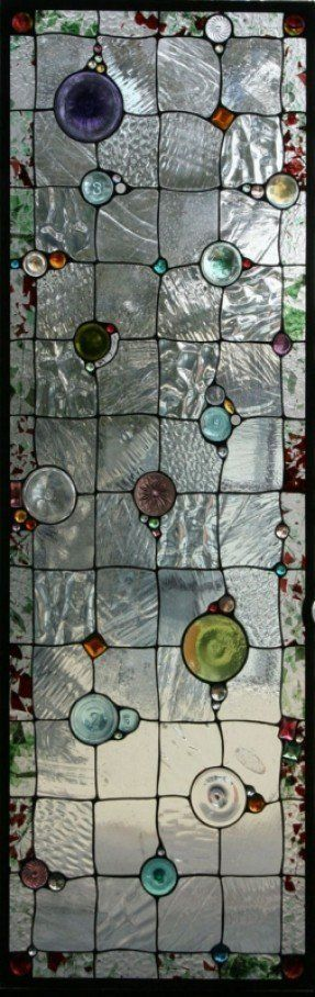 Daniel Maher Stained Glass. Would love something like this for the entrance into the side yard. Magical stained glass with the iron gate. Muah!