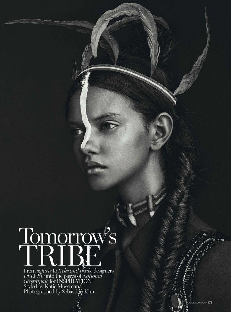 visual optimism; fashion editorials, shows, campaigns & more!: tomorrow's tribe: marina nery by sebastian kim for vogue australia april 2014