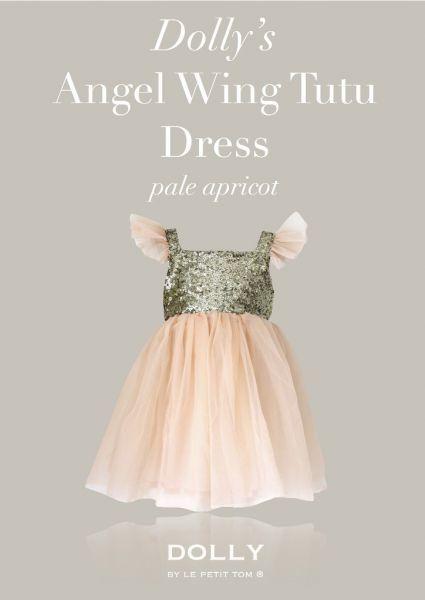 Minden kislány szereti hercegnőnek érezni magát! Ebben a ruhában garantált lesz az élmény!   http://milibaby.hu/markak/termek_adatlap/barack_alkalmi_kislany_ruha/dolly_angel_wing_dress_pale_apricot|13