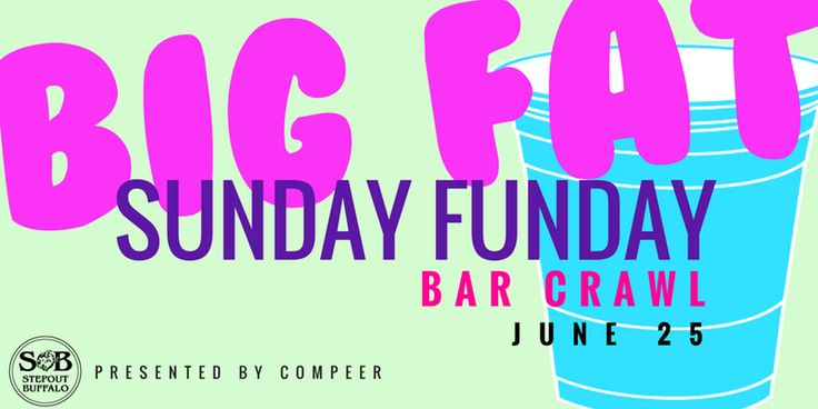 Big Fat Sunday Funday Bar Crawl Presented by Compeer -  -  http://bit.ly/2sDXkxJ