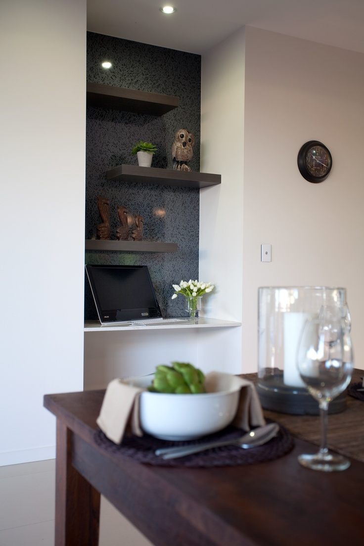 Creating A Study Nook Is Easy Love The Floating Shelves