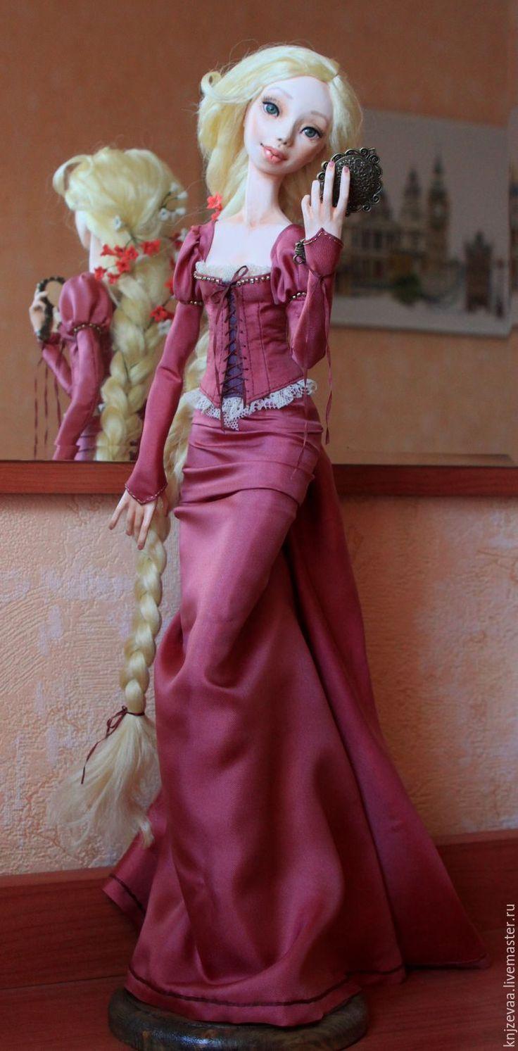 Купить Рапунцель 2 - розовый, золотые волосы, Рапунцель, красавица, шелк волос, золото волос