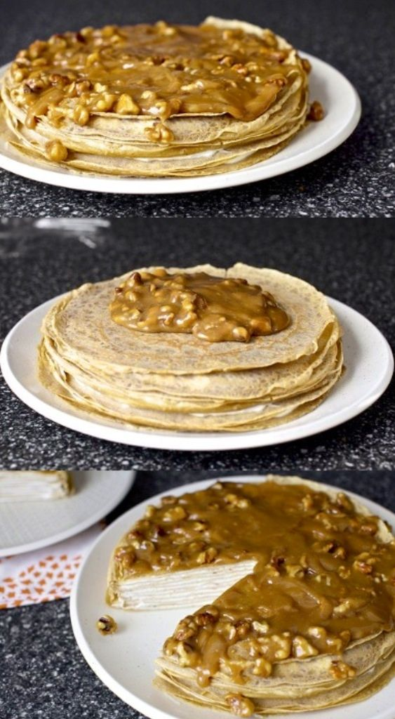Crepe cake, Banana bread and Crepes on Pinterest