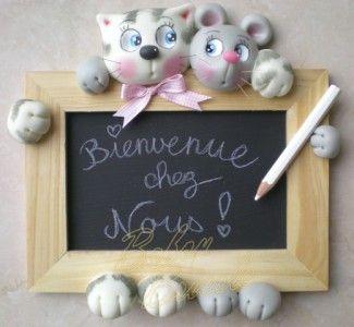 Babou Bricole: la porcelaine froide tutoriel cadre chat souris- Cours de modelage