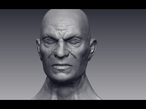 Old Man ZBrush 4R6 sculpt 90 minutes - YouTube