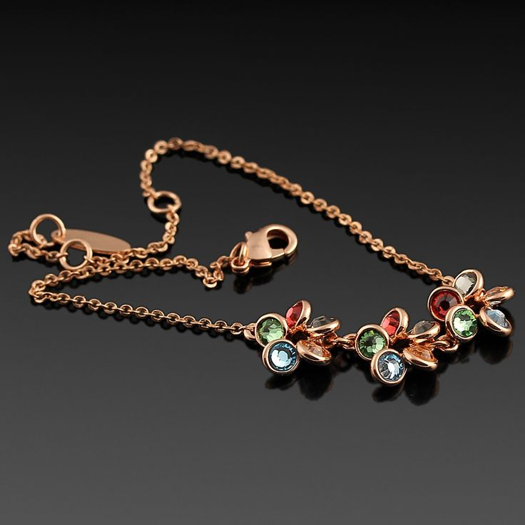 Rüzgar Gülü Bileklik - Avusturya kristali - Swarovski taşlar - Altın kaplama - Aksesuar - Bileklik - Renkli kristal - Dalya Takı Austrian Crystal - Swarovski stones - Gold plated - Rose gold - Accessory - Bracelet - Colored crystal - Wind rose