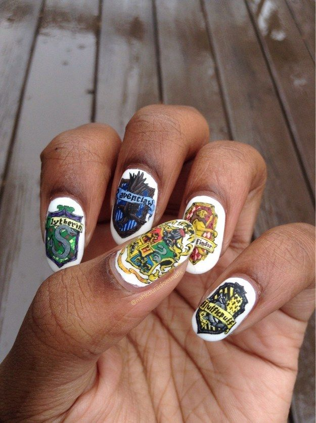 These Harry Potter themed creations. in 2019 | nails ...