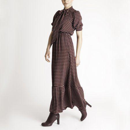 retro maxi šaty DOCA