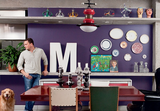 Purple Wall + Plates