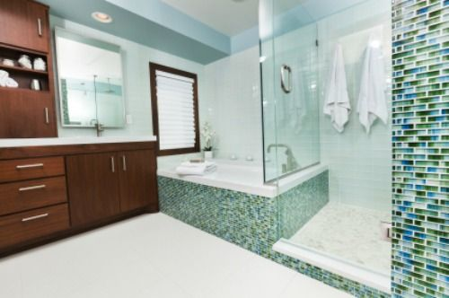 Glass tile - Master Bathroom accents