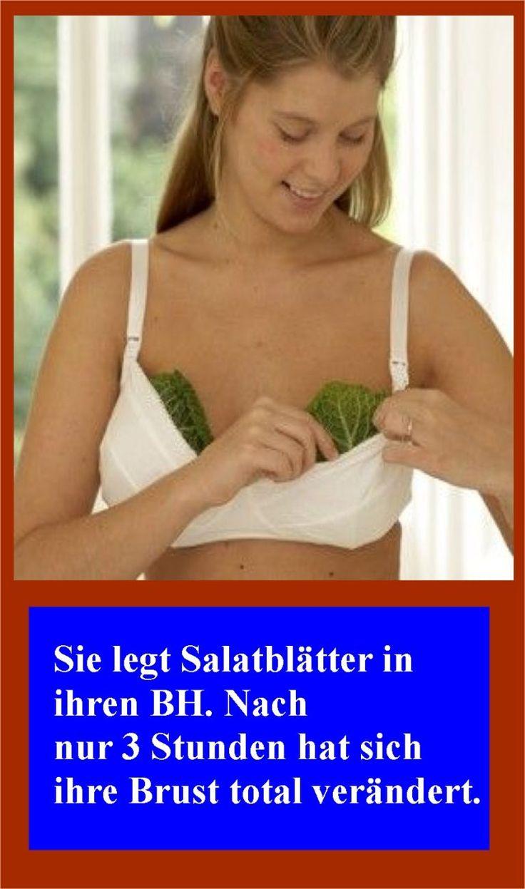 Sie legt Salatblätter in ihren BH. Nach nur 3 Stunden hat sich ihre Brust total…