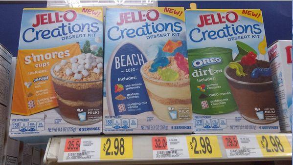 Dirt Cake Recipe Jello: Jello Creations Dessert Kits Smore's Cups, Beach Cups