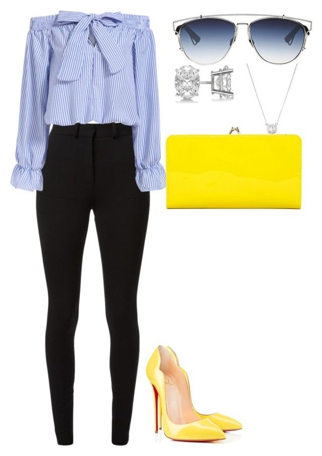"""""""Untitled #219"""" by amoney-1 ❤ liked on Polyvore featuring moda, Victoria Beckham, Christian Dior, Allurez, Christian Louboutin, HOBO ve Odelia"""