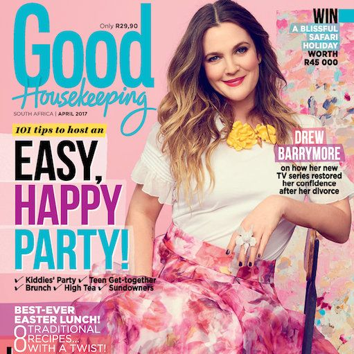 Our Stunning April Issue is Out Now! Drew Barrymore is on the cover of our brand new issue. Make sure you grab a copy when you go to the supermarket!