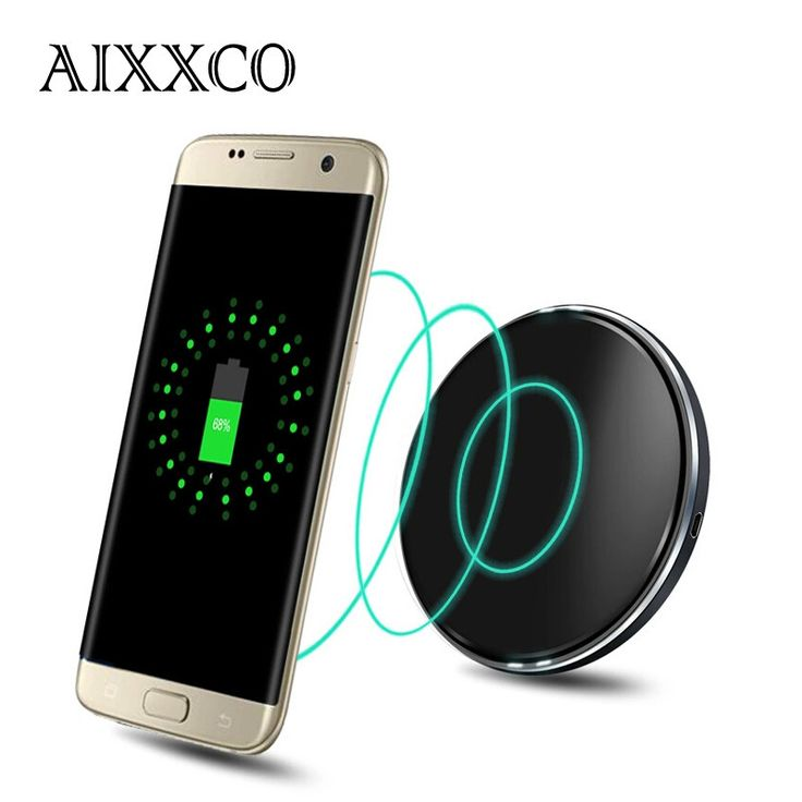 AIXXCO ultra Thin Wireless charging transmitter Qi standard Wireless charger for Samsung Galaxy S6 edge plus/Note5/S7 edge