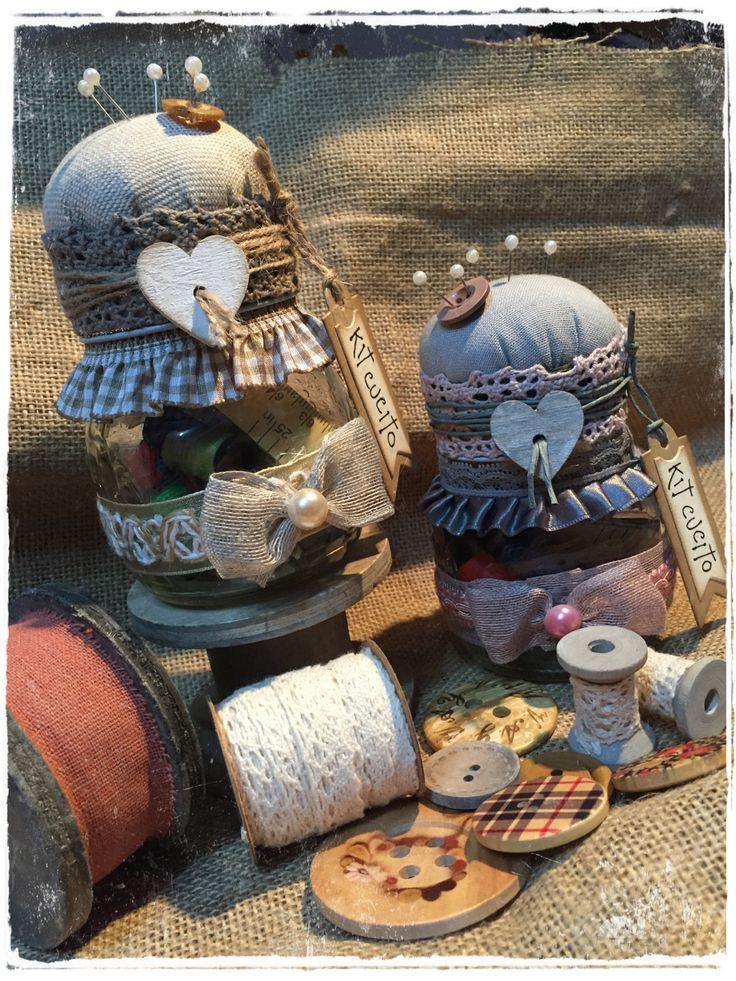 sewing kit jar kit cucito