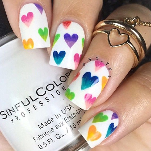 'Whenever you go, go with all your heart' - #Valentine Nails by @kt_tk1 using #Winstonia #nailart brush