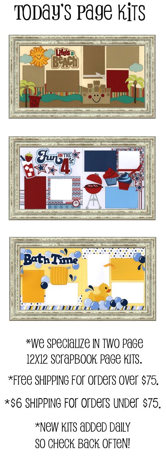 Wedding scrapbook ideas using cricut - Super Cute Scrapbook Page Kits Page Layout Ideas