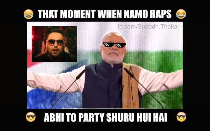 """When Narendra Modi Raps """"Abhi To Party Shuru Hui Hai"""""""