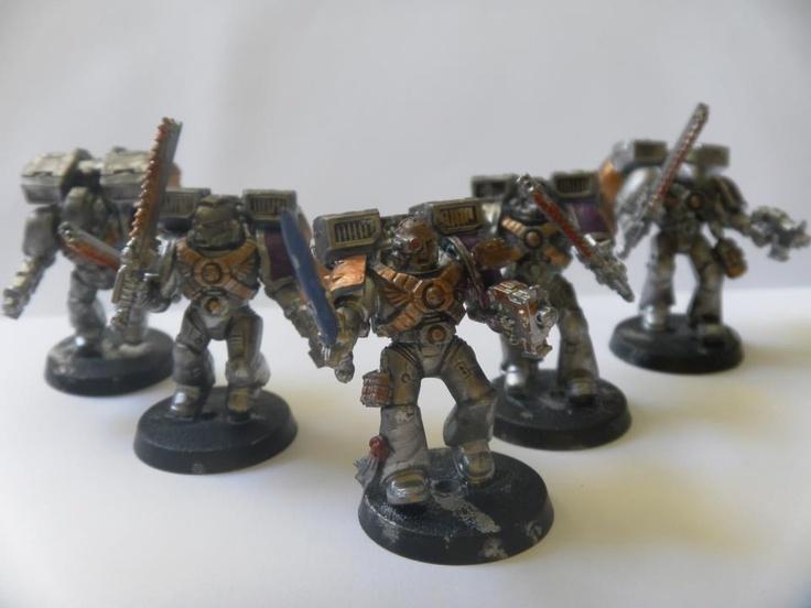 Thomas Elms's shiny assault squad  #wargaming