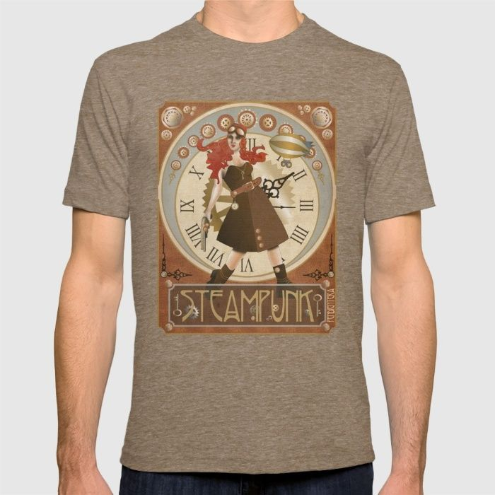 Lady Steampunk art nouveau T-shirt