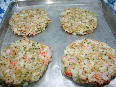 Budget minded, faux crab cakes