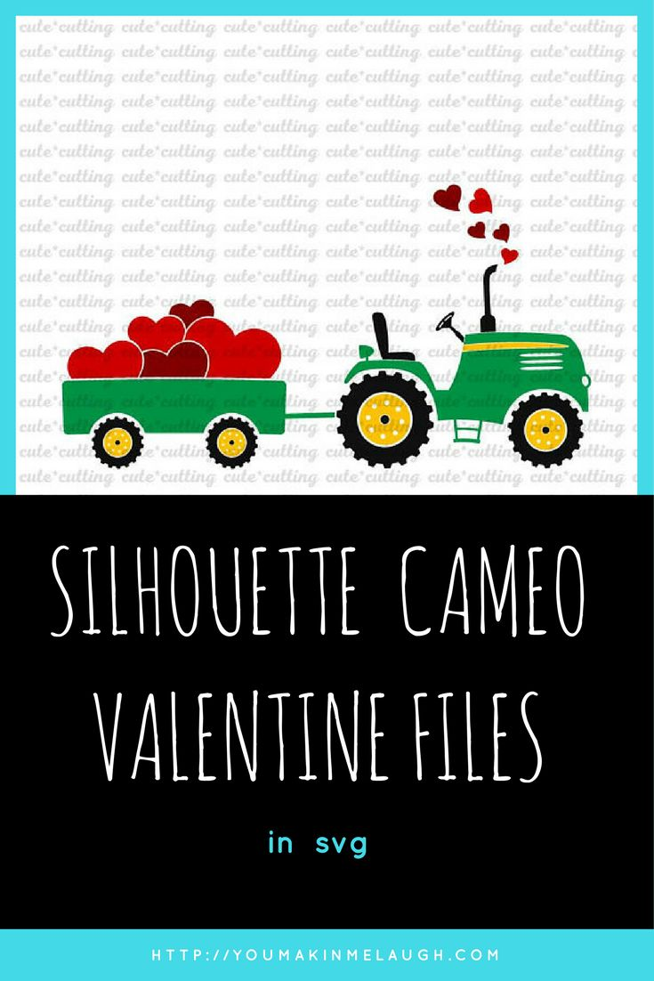 Valentines day svg, tractor with heart svg,  Tractor svg, Farm svg, valentines truck svg, dxf jpeg cutting files for  Silhouette Cameo, Cricut