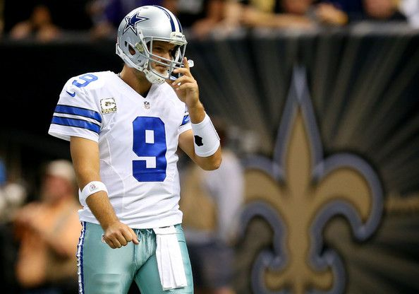 Tony Romo Photos Photos - Quarterback Tony Romo #9 of the Dallas Cowboy reacts against the New Orleans Saints during a game at the Mercedes-Benz Superdome on November 10, 2013 in New Orleans, Louisiana. - Dallas Cowboys v New Orleans Saints