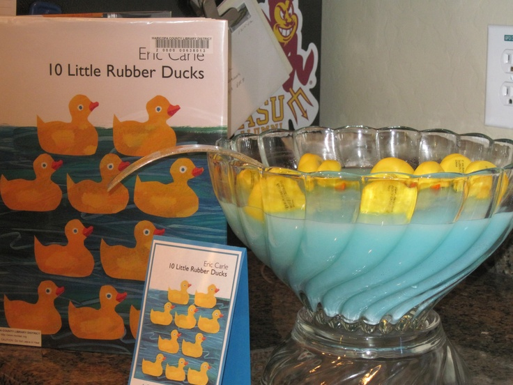 10 little rubber duck punch....book themed baby shower