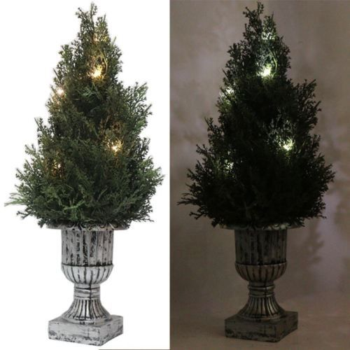 "13"" Artificial Plants Green Tree With Battery Operated LED Lights Waterproof $14.98 http://stores.ebay.com/myfuncorp"