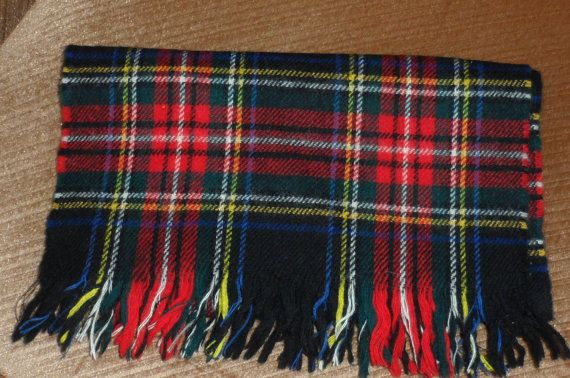 THIS SCARF S O L D ............TARTAN WOOL SCARF/ Made In Scotland/ Possibly Allison by BYGONERA