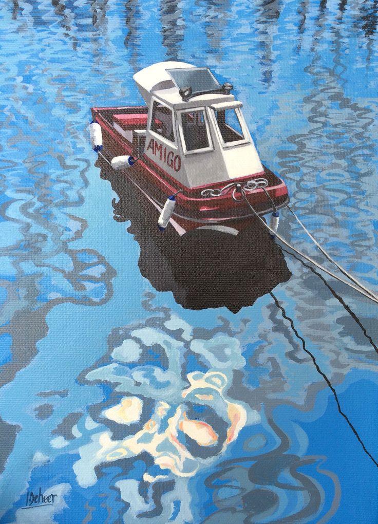 Amigo. Acrylic on stretched canvas. By Imelda Deheer