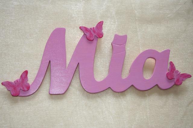 Dekorative Geschenkidee aus Holz    Ein indidividuelles Namensschild als Tür-, Bett-, Schrank- oder Wanddeko aus handgefertigten Holzbuchstaben (Namen