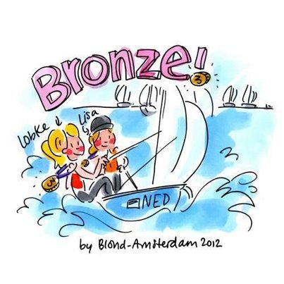 Leuk! Lobke & Lisa brons @ Olympische Spelen door Blond Amsterdam Thanks Hester!