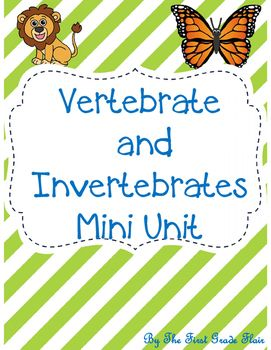 Vertebrates and Invertebrates are easy to teach with this simple, *no prep…
