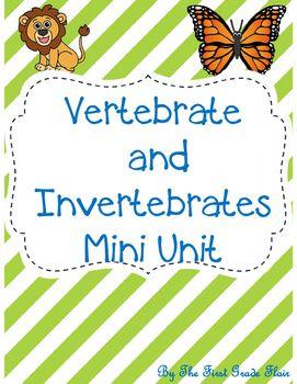 Vertebrates and Invertebrates are easy to teach with this simple, *no prep* unit!